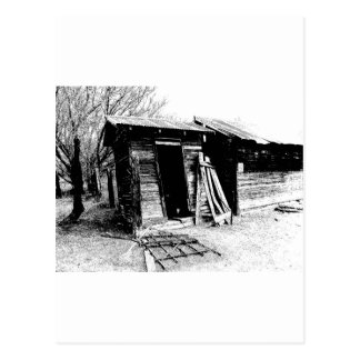 Leaning Outhouse Postcard