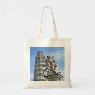 Leaning tower and La Fontana dei Putti Statue