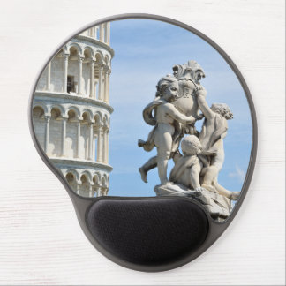 Leaning tower and La Fontana dei Putti Statue Gel Mouse Pad