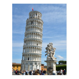 Leaning tower and La Fontana dei Putti Statue, Pis Postcard