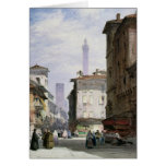 Leaning Tower, Bologna Greeting Card