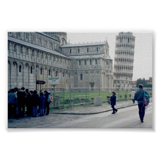 Leaning Tower of Pisa and Piazza di Miracoli Posters