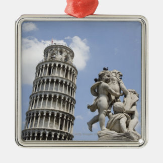 Leaning Tower of Pisa and Statue, Italy Christmas Ornament