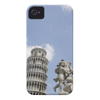 Leaning Tower of Pisa and Statue, Italy iPhone 4 Cover