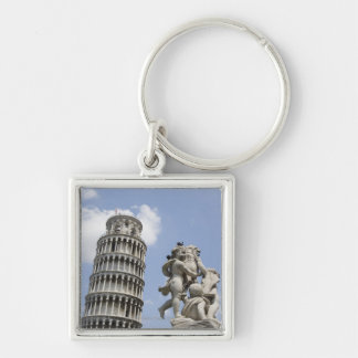 Leaning Tower of Pisa and Statue, Italy Key Ring