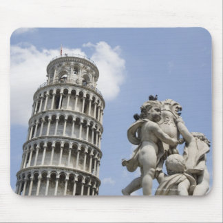 Leaning Tower of Pisa and Statue, Italy Mouse Pad