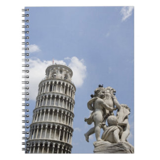 Leaning Tower of Pisa and Statue, Italy Spiral Notebook