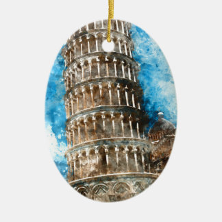 Leaning Tower of Pisa in Italy Christmas Ornament