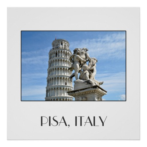Leaning tower of Pisa, Italy Poster Poster