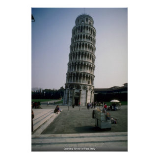 Leaning Tower of Pisa Italy Poster