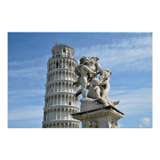 Leaning tower of Pisa Italy Print