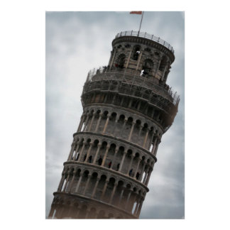 Leaning Tower of Pisa Italy Travel Poster