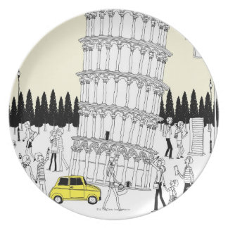 Leaning Tower of Pisa Plates