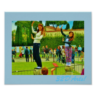 Leaning Tower of Pisa, Posers Poster Print, No. 1