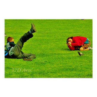 Leaning Tower Of Pisa Posers Poster Print, No. 3