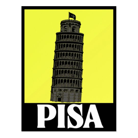 Leaning tower of Pisa Postcard Design