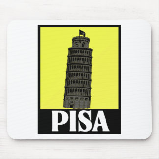 Leaning tower of Pisa Postcard Design Mousepads
