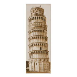 Leaning Tower of Pisa Print