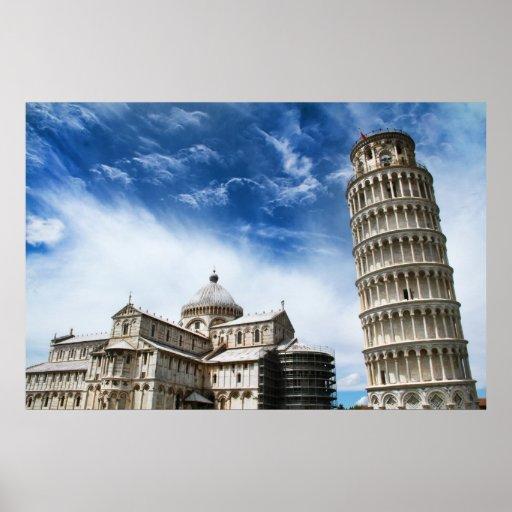 leaning tower pisa print