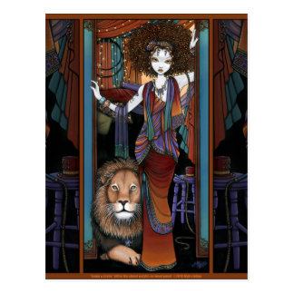 Leaon Levon Lion Tamer Circus Bohemian Postcard