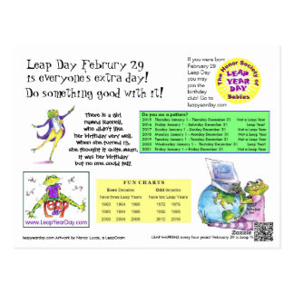 Leap Day Info Card Postcard