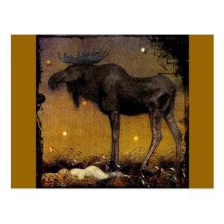 Leap Elk Princess Cotton Asleep Postcard