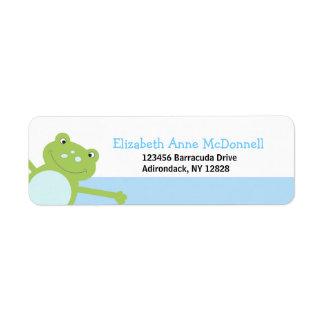 Leap Frog Froggy Custom Address Labels (Blue)