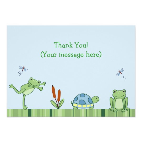Leap Frog Froggy Flat Thank You Note Cards