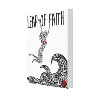 Leap of Faith Canvas With Woman Leaping Jumping Canvas Print