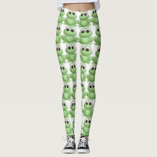 leap  out with frogs leggings
