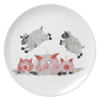 Leap Pig by Suffolk Sheep Dinner Plates