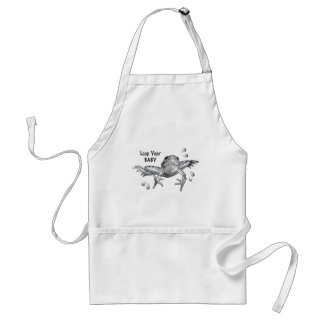 Leap Year Baby: Leaping Frog in Pencil Standard Apron