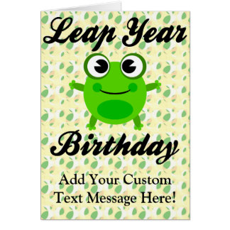 Leap Year Birthday Cute Frog Cards