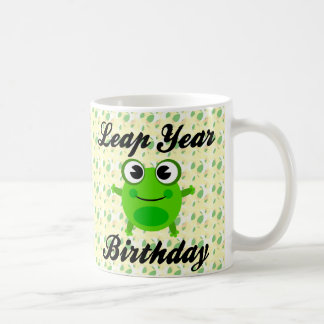Leap Year Birthday, Cute Frog Coffee Mug