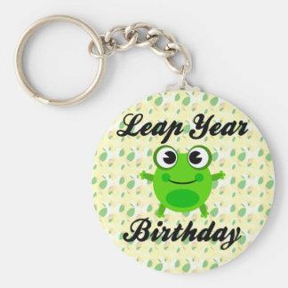 Leap Year Birthday, Cute Frog Key Ring