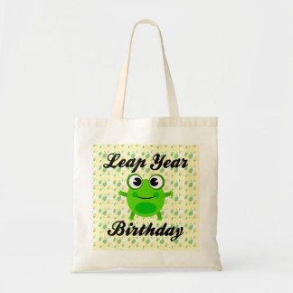 Leap Year Birthday, Cute Frog Tote Bag