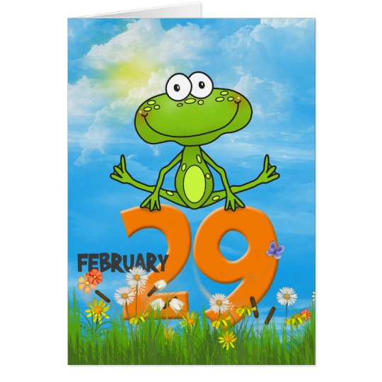 Leap Year Birthday frog Card