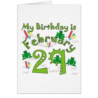 Leap Year Birthday Greeting Card