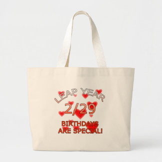 Leap Year Birthdays Are Special! Jumbo Tote Bag