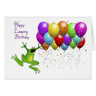 Leap Year Happy Birthday Stationery Note Card
