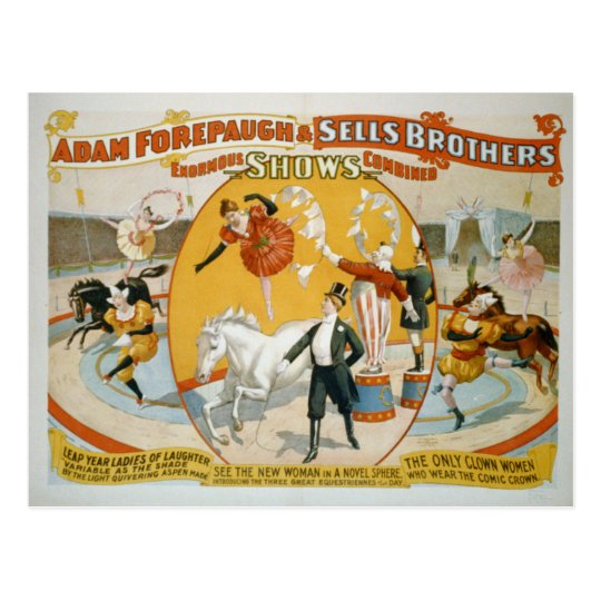 Leap Year Ladies / Clown Women Circus Poster