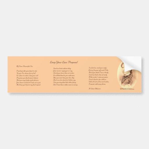 Leap Year Law Proposal Bumper Sticker