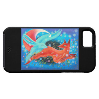Leaping Animals, a Fox and a Hare. Case For The iPhone 5