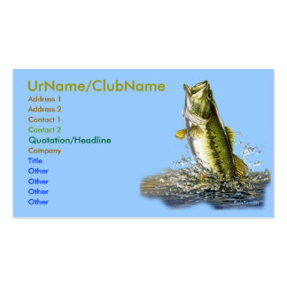Leaping Bass Business Card