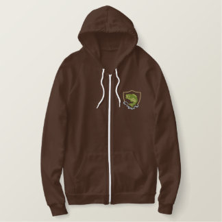 Leaping Bass Embroidered Hoodie