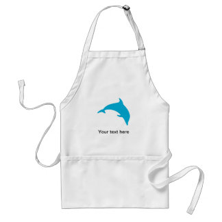 Leaping Blue Dolphin Silhouette Aprons