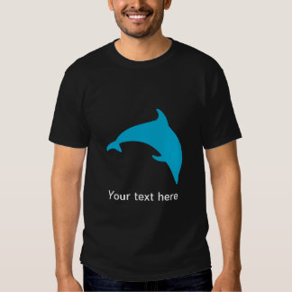 Leaping Blue Dolphin Silhouette Shirts