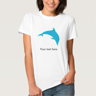 Leaping Blue Dolphin Silhouette T-shirt