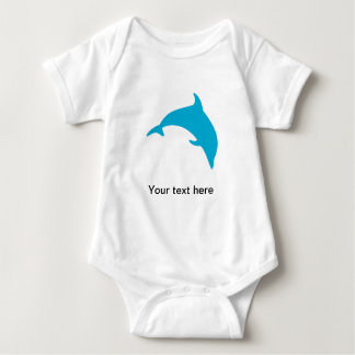 Leaping Blue Dolphin Silhouette Tshirts
