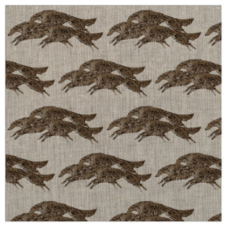 Leaping Borzoi Fabric